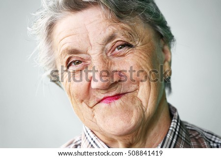 Smile grandmother face
