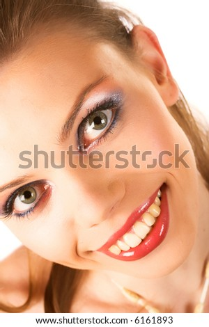Smile of a beautiful young woman