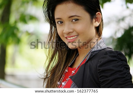 Smile of pretty asian girl