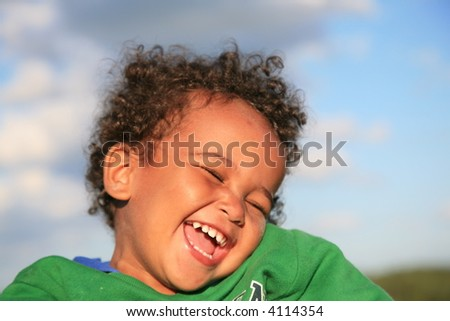 Smile of the kid - stock photo