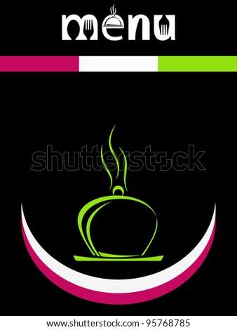 Smiley happy face, Menu Design Template - stock photo