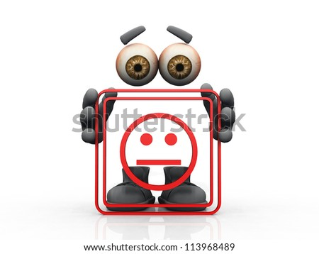 smiley symbol on a white background - stock photo