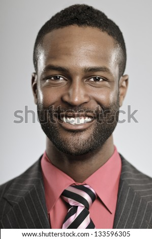 Smiling African American Businessman - stock photo