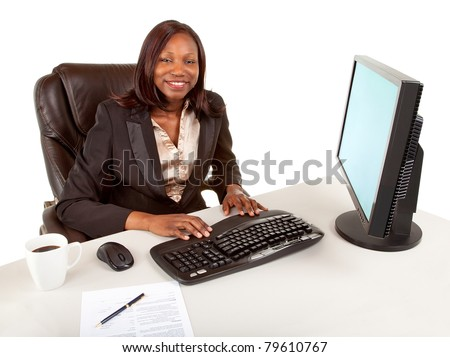 Smiling African American Businesswoman - stock photo
