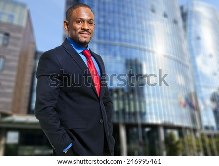 Smiling african businessman - stock photo