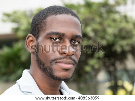 Smiling african man with beard