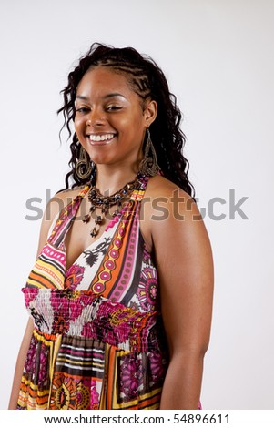 Smiling and happy African American woman