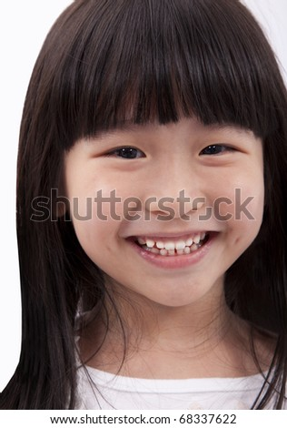 Smiling and happy little girl - stock photo