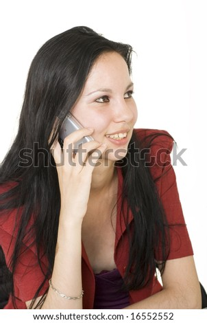 Smiling and talking - stock photo