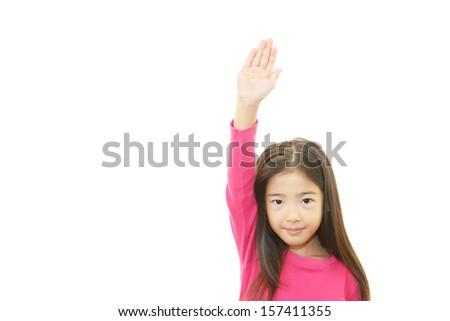 Smiling Asian girl - stock photo