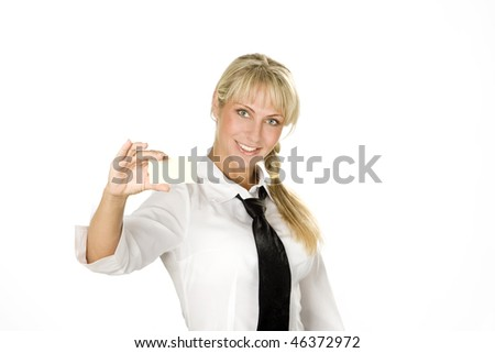 Smiling attractive young businesswoman - stock photo