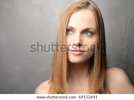 Smiling beautiful woman - stock photo