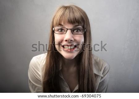 Smiling beautiful woman - stock photo