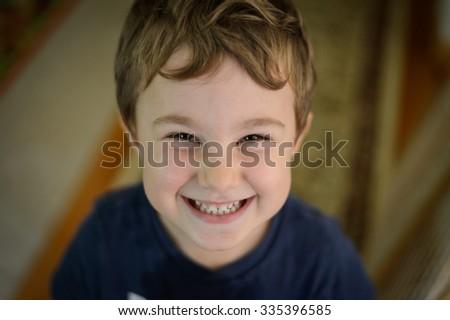 Smiling boy - stock photo
