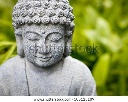 Smiling Buddha - stock photo