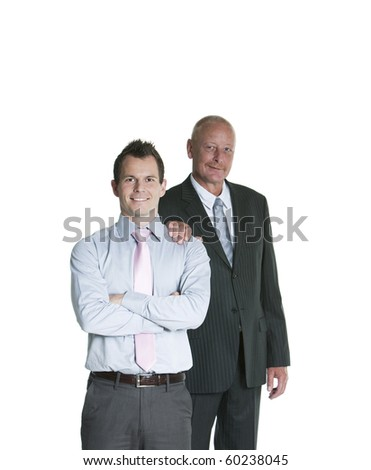smiling business couple - stock photo