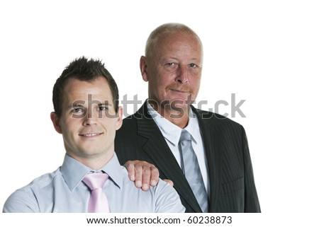 smiling business couple