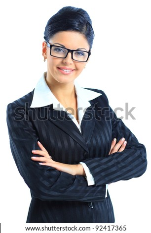 Smiling Business Woman - stock photo