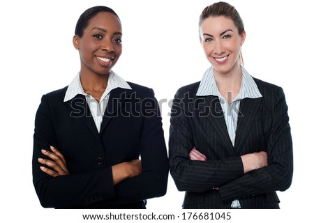 Smiling business women posing with confidence