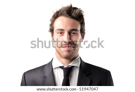 Smiling businessman - stock photo