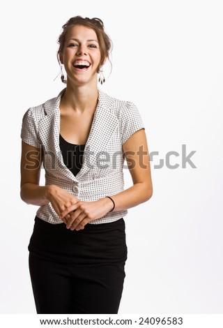 Smiling businesswoman - stock photo