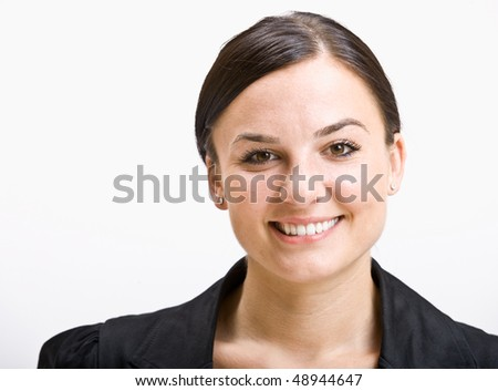 Smiling businesswoman - stock photo