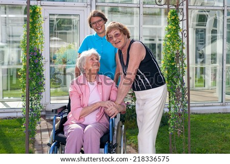 Two Health Care Professionals Old Age Stock Photo ...