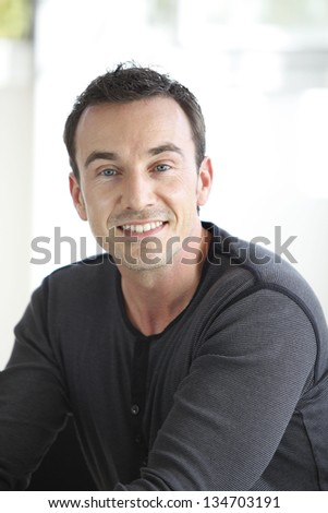 Smiling casual man - stock photo