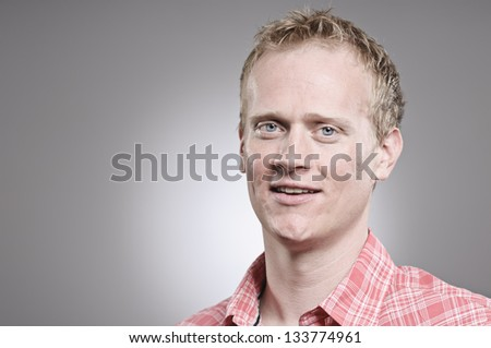Smiling Caucasian Man - stock photo