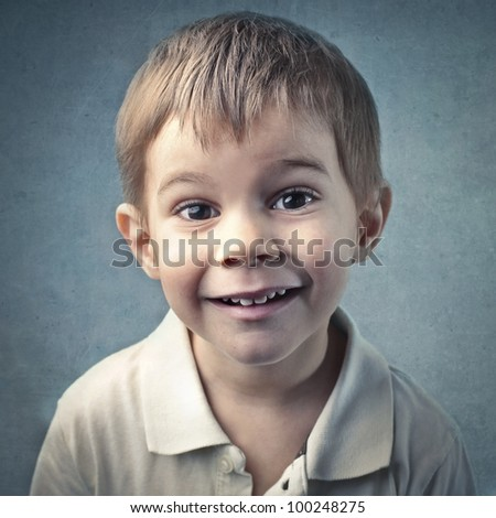 Smiling child - stock photo