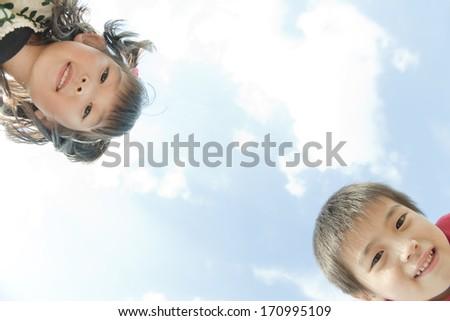 Smiling children - stock photo