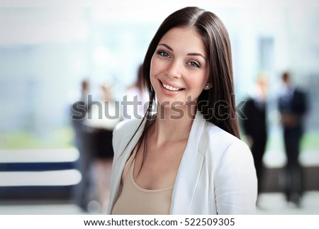 Smiling confident business woman