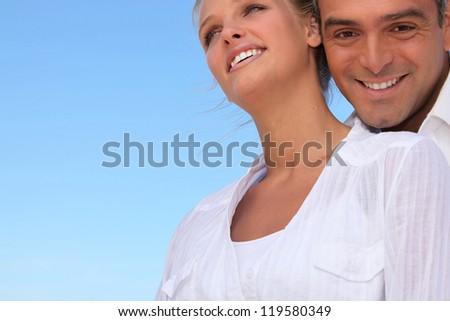 Smiling couple - stock photo