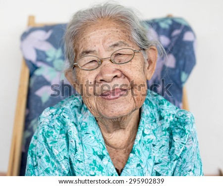 Smiling elderly people ,asian of smile ,thailand