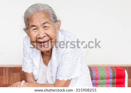 Smiling elderly people ,asian of smile ,thailand - stock photo