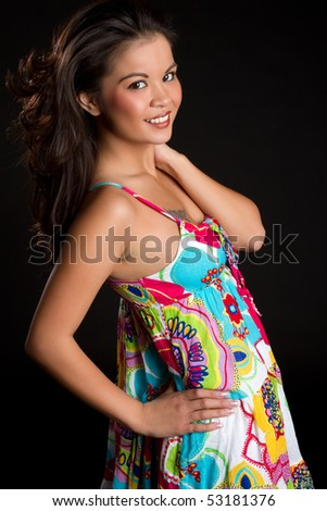 Smiling Ethnic Woman - stock photo