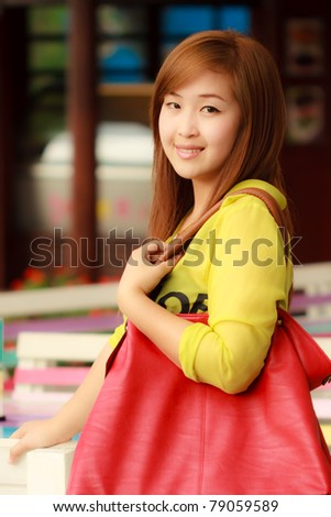 Smiling face Asian woman