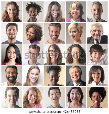 Smiling faces - stock photo