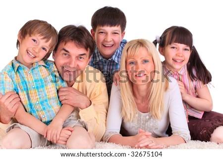 Smiling Family - stock photo