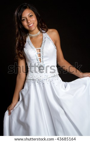 Smiling Fashion Girl - stock photo