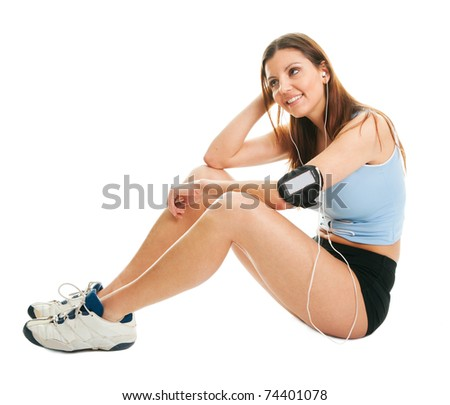Smiling fitness women - stock photo