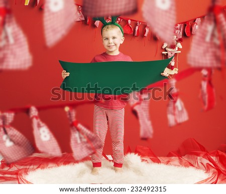 Smiling funny child - stock photo