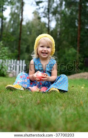 Smiling girl - stock photo