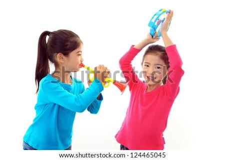 Smiling girls - stock photo