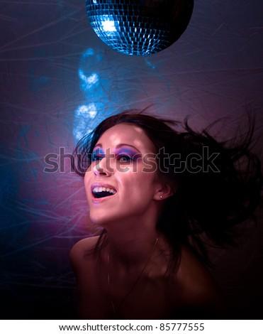 Smiling Glamor Clubbing - stock photo