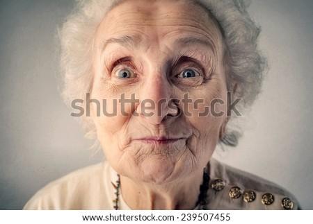 Smiling grandmother  - stock photo