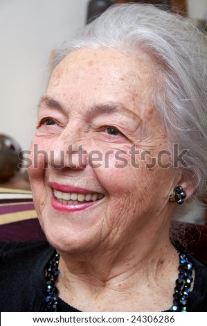 Smiling grandmother