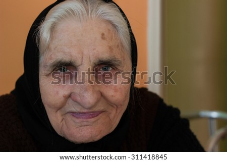 Smiling grandmother - stock photo