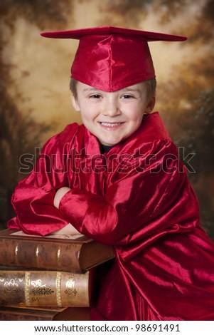 smiling happy graduation time - stock photo