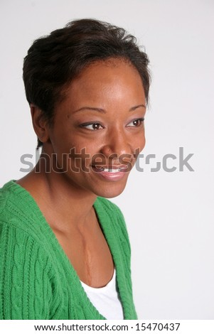 Smiling happy woman - stock photo